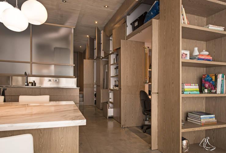 Apartamento Rubiano: Paredes de estilo  por MEMA Arquitectos