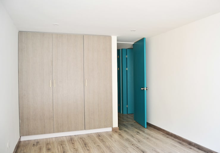 APARTAMENTO 62: Habitaciones de estilo  por santiago dussan architecture & Interior design
