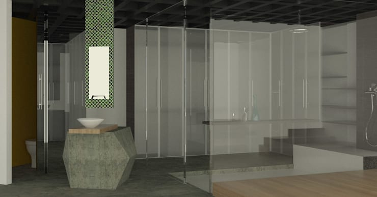 APARTAMENTO MUSEO: Baños de estilo  por santiago dussan architecture & Interior design