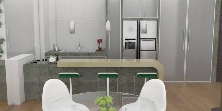 APARTAMENTO MUSEO: Cocinas de estilo  por santiago dussan architecture & Interior design