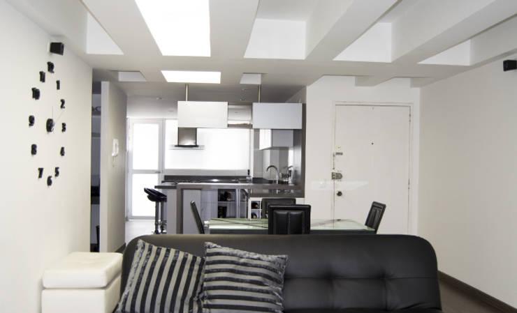 APARTAMENTO NOVARK: Salas de estilo  por santiago dussan architecture & Interior design