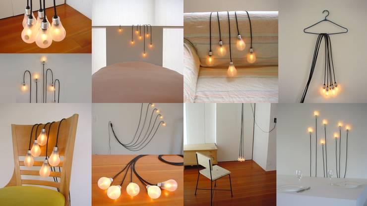 照明プロダクト「5b-e ふぅっと幸福の5つの電球たち」: アッシュ・ペー・フランス株式会社が手掛けたアートです。