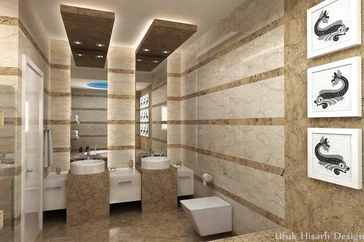 Ванные комнаты в . Автор – HİSARİ DESIGN STUDIO,