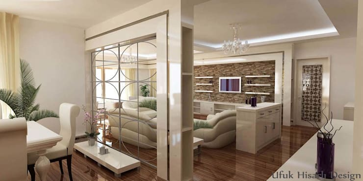 Living room by HİSARİ DESIGN STUDIO