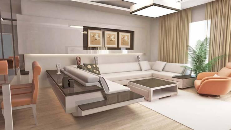 HİSARİ DESIGN STUDIO –  MISCELLANEOUS HOME PROJECT: modern tarz Oturma Odası