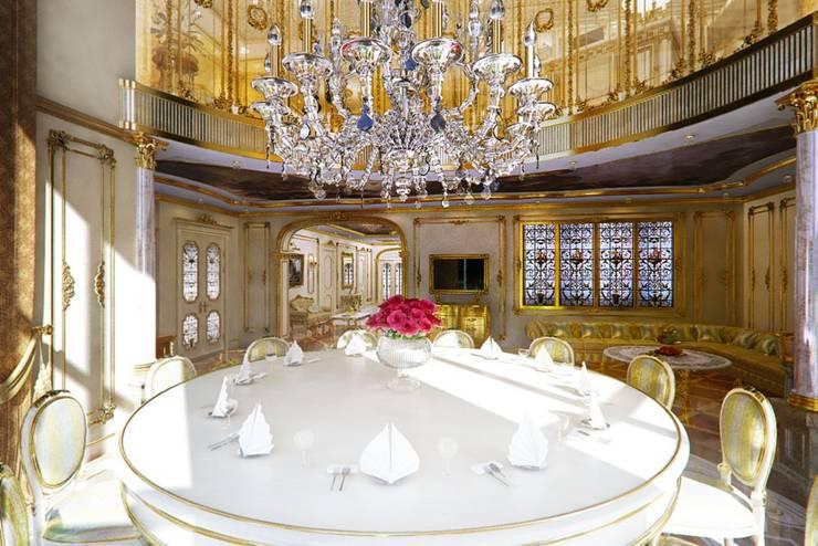 Golden house.: Кухни в . Автор – Design studio of Stanislav Orekhov. ARCHITECTURE / INTERIOR DESIGN / VISUALIZATION., Классический