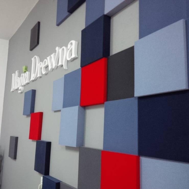 Realizacja.Fluffo PIXEL.: styl , w kategorii Domowe biuro i gabinet zaprojektowany przez FLUFFO fabryka miękkich ścian,Minimalistyczny