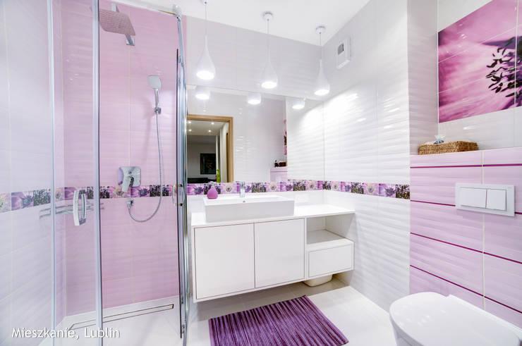 mieszkanie na Felinie Lublin: styl , w kategorii Łazienka zaprojektowany przez Auraprojekt