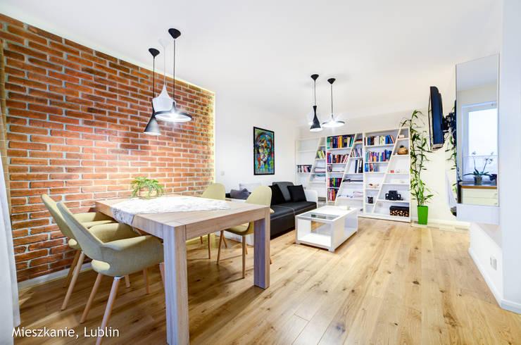 mieszkanie na Felinie Lublin: styl , w kategorii Jadalnia zaprojektowany przez Auraprojekt