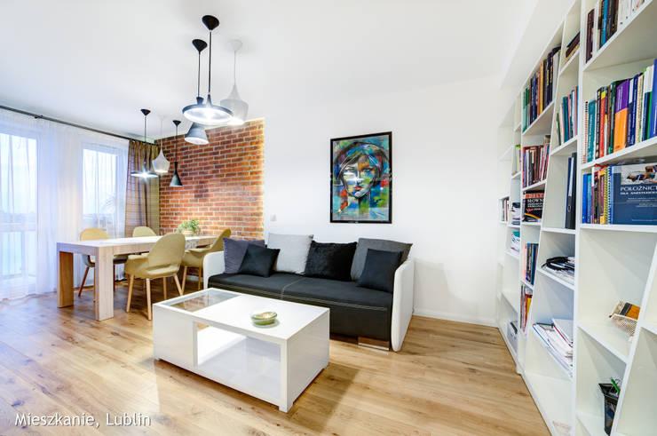 mieszkanie na Felinie Lublin: styl , w kategorii Salon zaprojektowany przez Auraprojekt