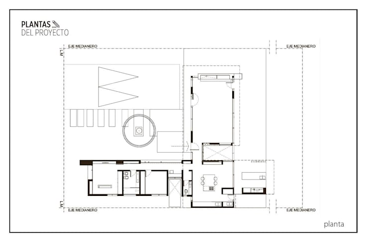 Casa AP:  de estilo  por Felipe Gonzalez Arzac