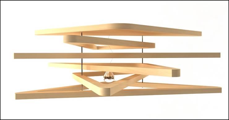 Triangulum lamp : Sala de estar  por Joana Magalhães Francisco