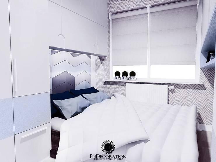 Panele Chevron w sypialni.: styl , w kategorii  zaprojektowany przez FLUFFO fabryka miękkich ścian