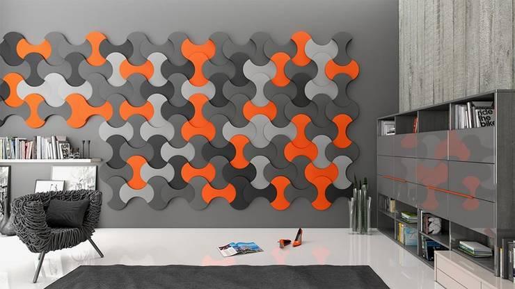 Panele Bounce na ścianie.: styl , w kategorii  zaprojektowany przez FLUFFO fabryka miękkich ścian