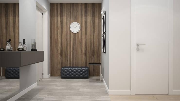 Pasillos, vestíbulos y escaleras de estilo minimalista de GK DESIGN Minimalista
