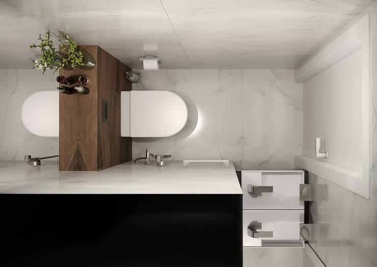 Baños de estilo minimalista de GK DESIGN Minimalista