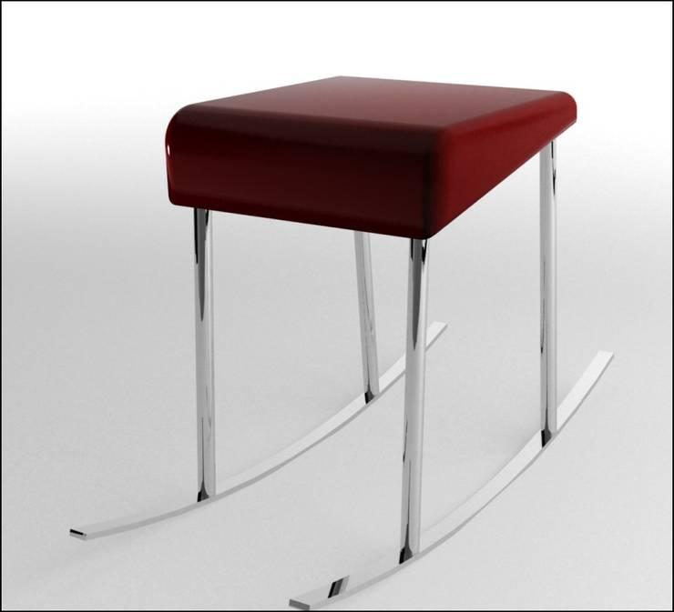 Inadapted rocking chair j: Sala de estar  por Joana Magalhães Francisco