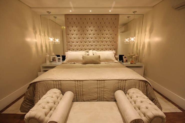 Dormitório Casal - Vista 2: Quartos  por Daniela Hescheles Arquitetura