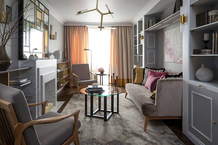 Project Art Deco style: Гостиная в . Автор –  Ekaterina Kozlova
