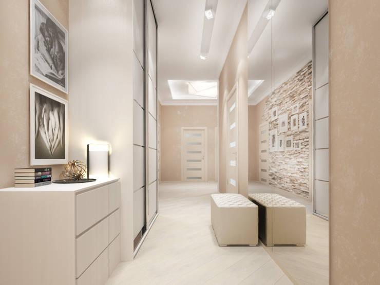 Белый интерьер Коридор, прихожая и лестница в стиле минимализм от Tatiana Zaitseva Design Studio Минимализм