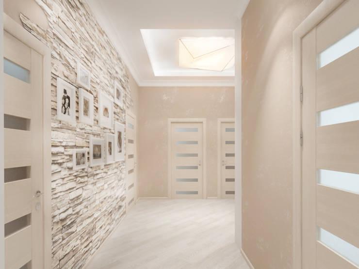 Белый интерьер Коридор, прихожая и лестница в скандинавском стиле от Tatiana Zaitseva Design Studio Скандинавский