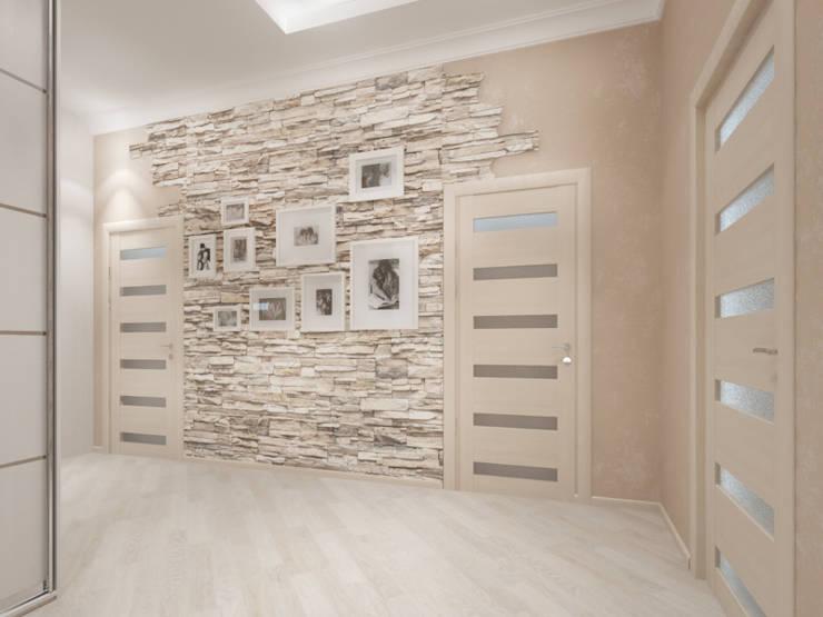 Белый интерьер Коридор, прихожая и лестница в стиле кантри от Tatiana Zaitseva Design Studio Кантри