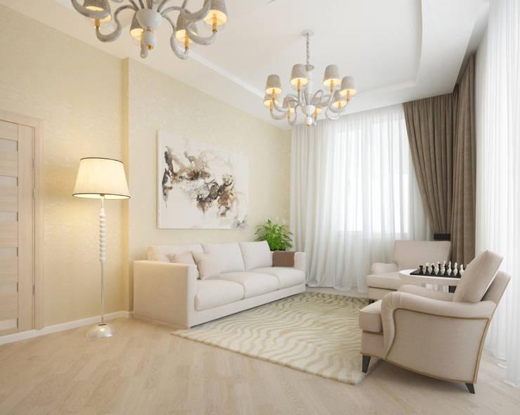 Белый интерьер Гостиная в классическом стиле от Tatiana Zaitseva Design Studio Классический
