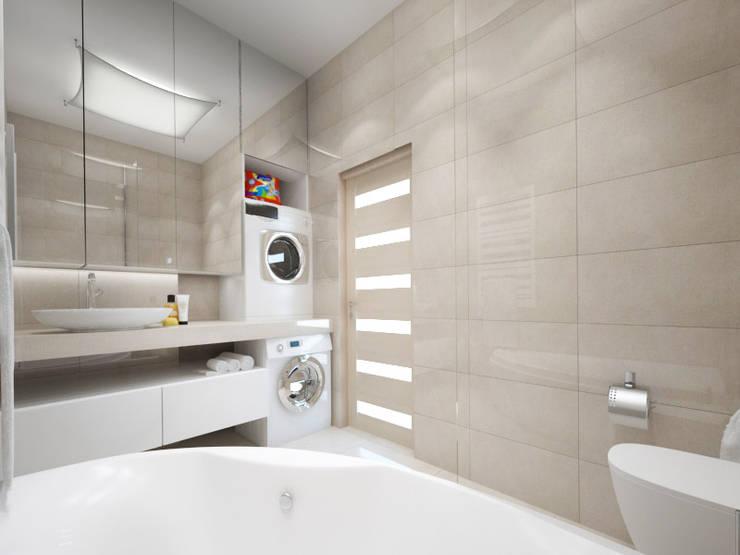 Белый интерьер: Ванные комнаты в . Автор – Tatiana Zaitseva Design Studio