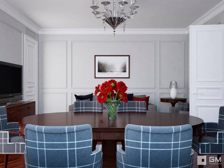 Квартира на Фрунзенской набережной в стиле Ralph Lauren: Гостиная в . Автор – GM-interior, Модерн