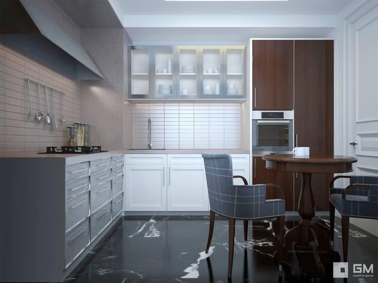 Квартира на Фрунзенской набережной в стиле Ralph Lauren: Кухни в . Автор – GM-interior, Модерн