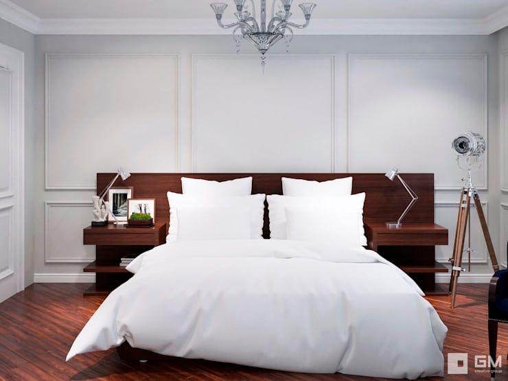 Квартира на Фрунзенской набережной в стиле Ralph Lauren: Спальни в . Автор – GM-interior, Модерн
