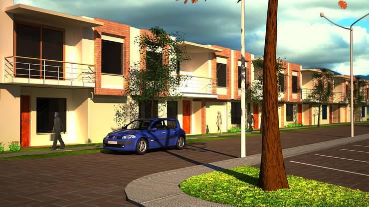 Urbanización San Miguel, vista general: Casas de estilo  por Santiago Zuluaga Arroyave