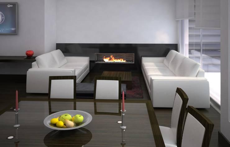 Casa Bifamiliar: Salas de estilo clásico por OM ARQUITECTURA & SERVICIOS S.A.S
