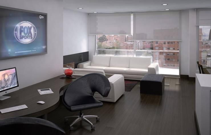 Casa Bifamiliar: Salas de estilo  por OM ARQUITECTURA & SERVICIOS S.A.S