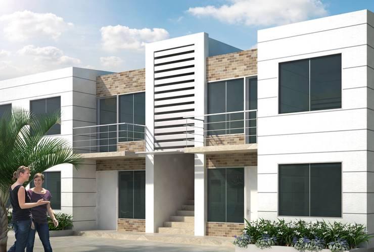 Casa Bifamiliar: Casas de estilo  por OM ARQUITECTURA & SERVICIOS S.A.S