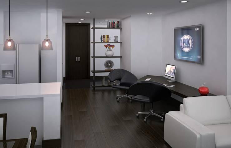 Casa Bifamiliar: Salas de estilo  por OM ARQUITECTURA & SERVICIOS S.A.S, Clásico