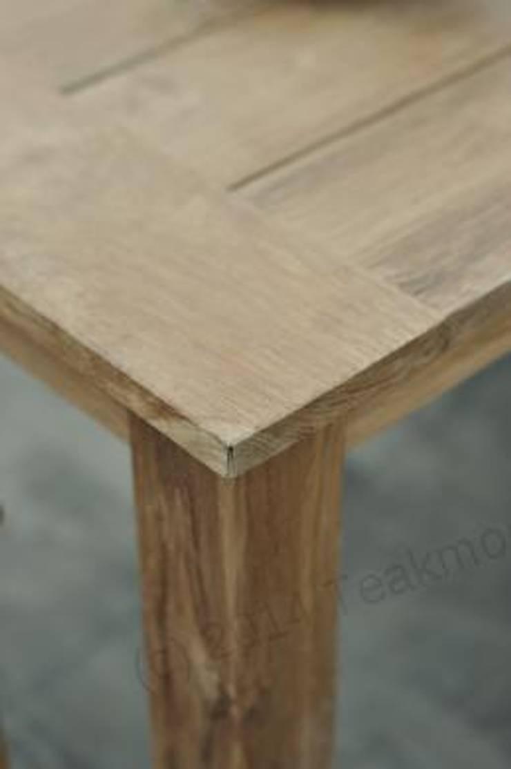 Gartentisch 240x100cm Mit 5 Beaufort Stuhle Und Bank Von Teakmoebel