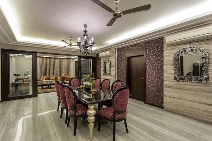 Kumar Residence:  Dining room by Spaces and Design