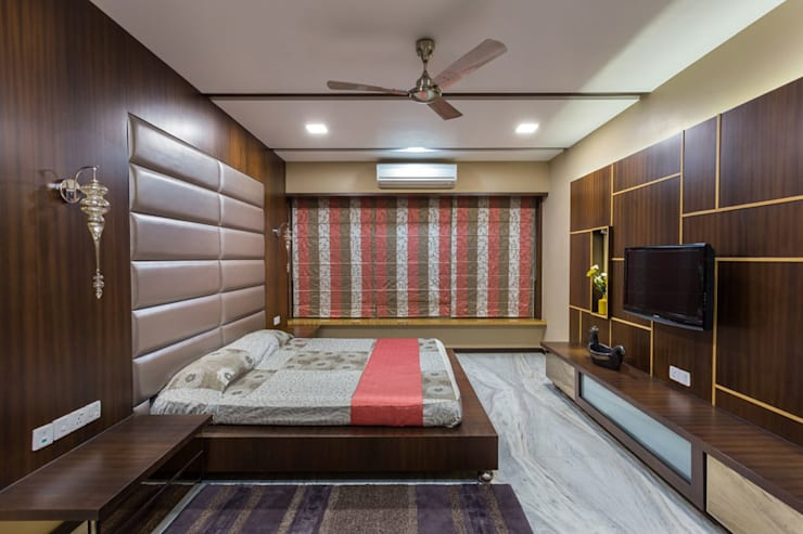 Kumar Residence:  Bedroom by Spaces and Design