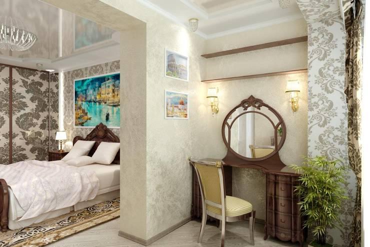 Классическая спальня: Спальни в . Автор – Цунёв_Дизайн. Студия интерьерных решений., Классический