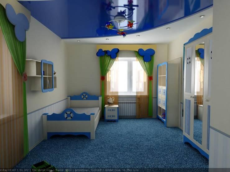 Дизайн детской в морском стиле Детские комната в эклектичном стиле от Цунёв_Дизайн. Студия интерьерных решений. Эклектичный