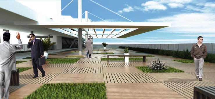 MPPB - Solário: Terraços  por Martins Lucena Arquitetos