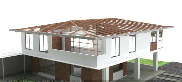 Vivienda - Vereda Cristo Rey: Casas de estilo  por Santiago Zuluaga Arroyave,