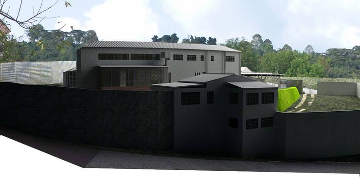 -Vivienda - Casa Arzobispal - Esquema remodelación  - Manizales - Barrio La Francia:  de estilo  por Santiago Zuluaga Arroyave,