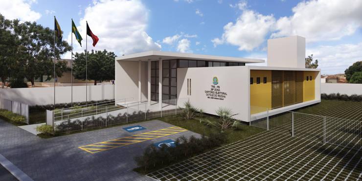 TRE-PB Catolé do Rocha: Casas  por Martins Lucena Arquitetos