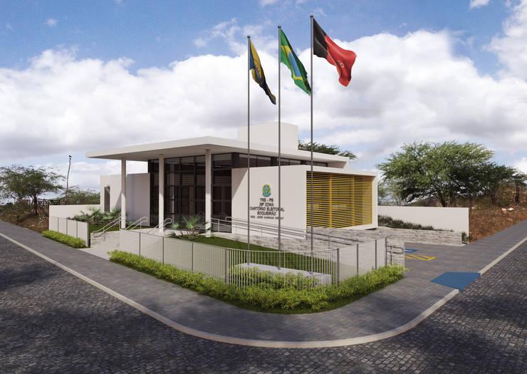 TRE-PB Boqueirão: Casas  por Martins Lucena Arquitetos