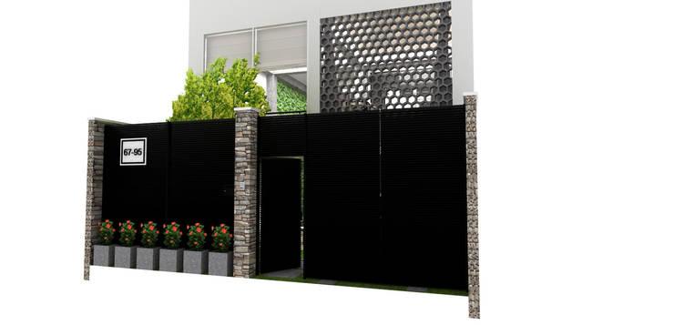 fachada:  de estilo  por Elizabeth SJ