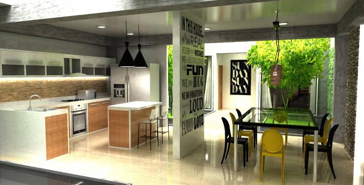 cocina y comedor:  de estilo  por Elizabeth SJ