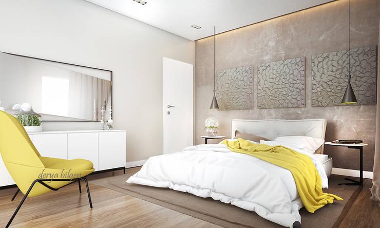 Derya Bilgen – bedroom: modern tarz Yatak Odası