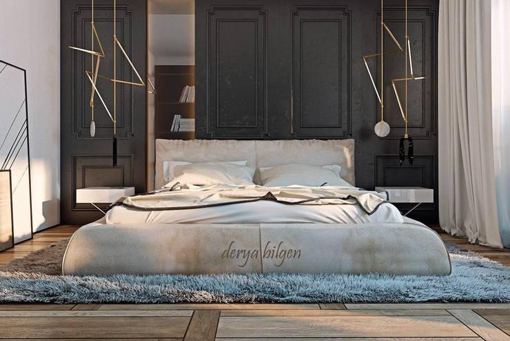 Derya Bilgen – bedroom: minimal tarz tarz Yatak Odası